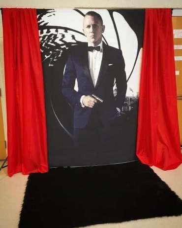 James Bond Theme Birthday Party Photo Backdrop