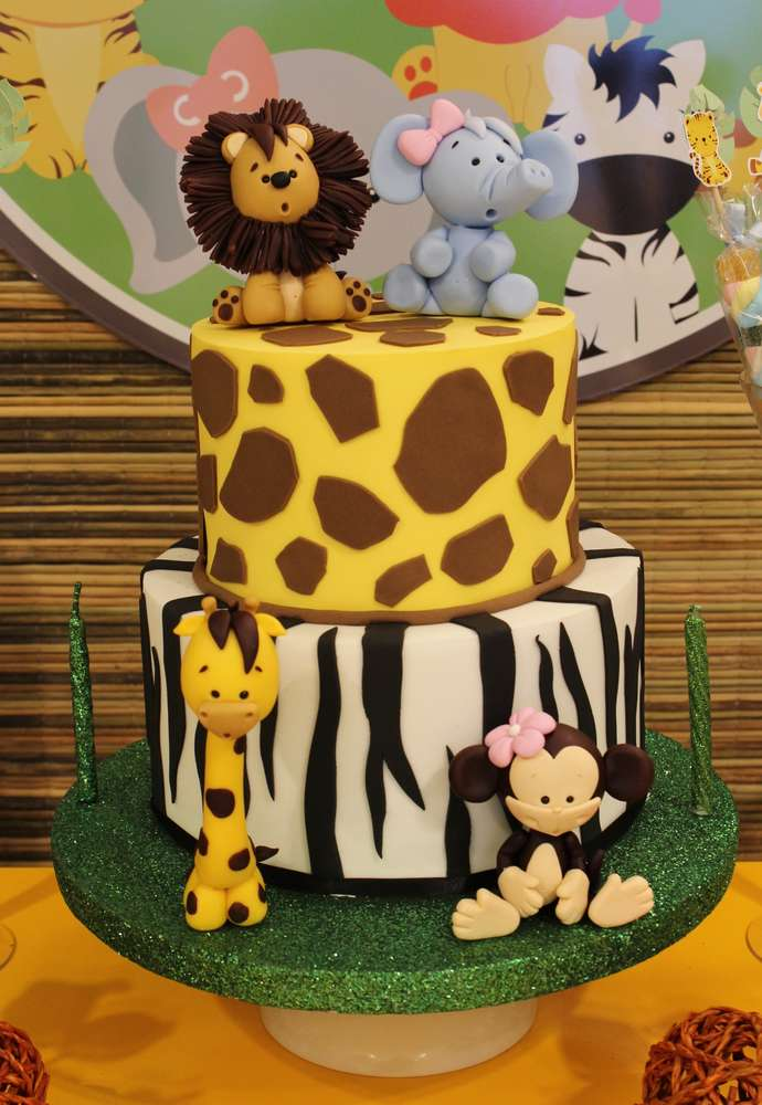 Jungle Theme Birthday Party Cake