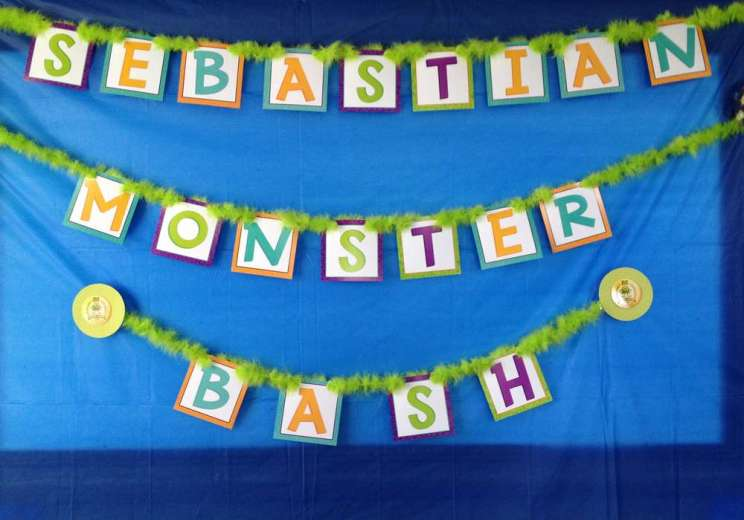 Monster Theme Birthday Party Decoration