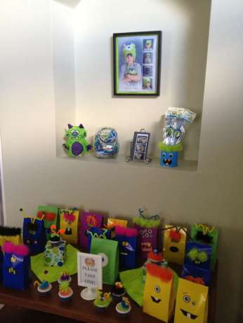 Monster Theme Birthday Party Return Gifts