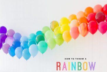Rainbow Theme Birthday Party Decoration