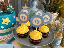 Twinkle Twinkle Little Star Party Cup Cakes