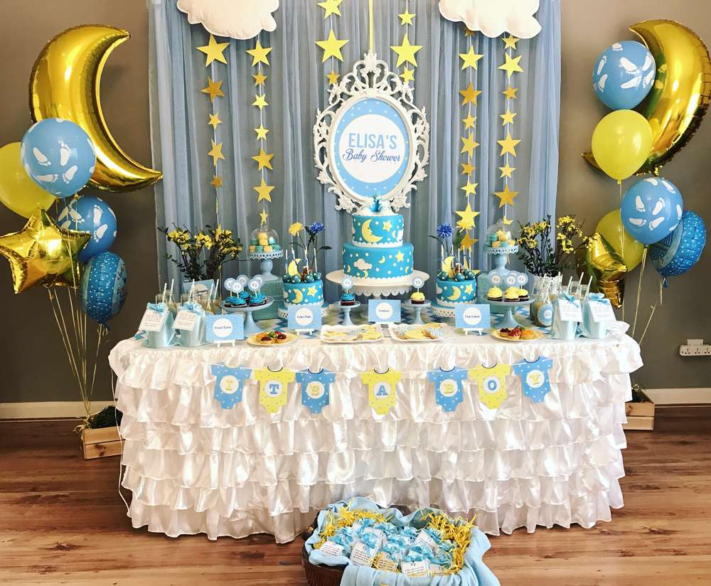 Twinkle twinkle little star party decoration 2 venuemonk for Baby shower party decoration