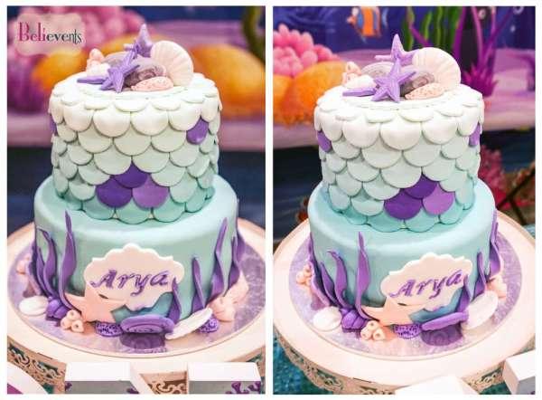 Under The Sea Theme Birthday Party Cake