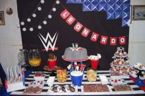 WWE Theme Birthday Party Cake 2