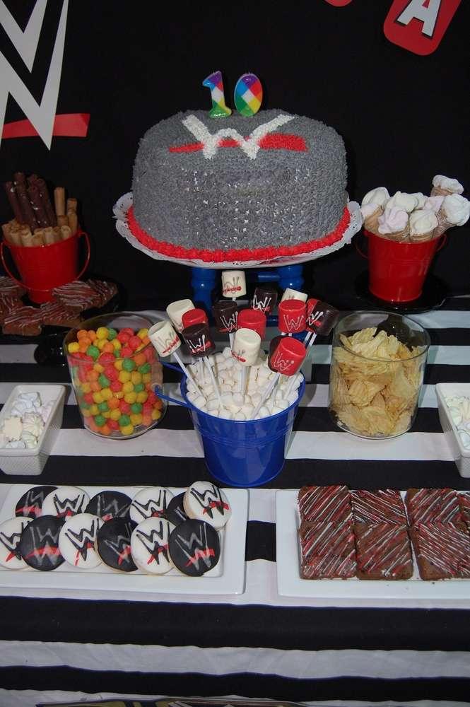 WWE Theme Birthday Party Cake 3