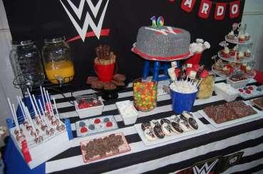 WWE Theme Birthday Party Cake