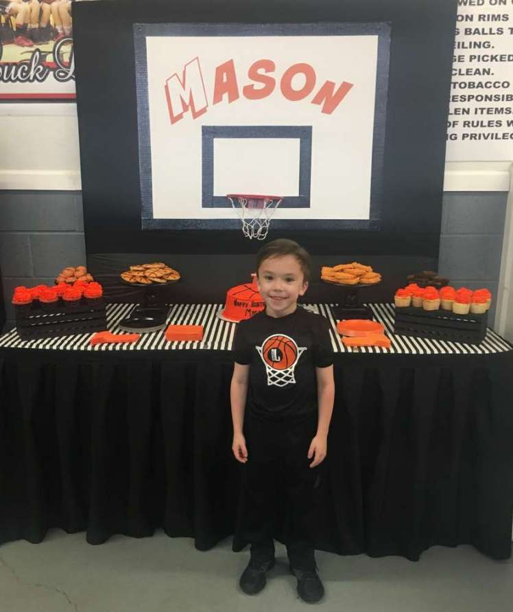 Basketball Theme Birthday Party Birthday Boy