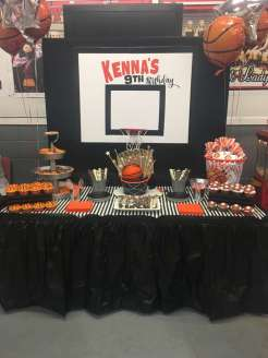 Basketball Theme Birthday Party