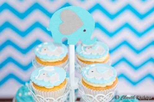 Blue Elephant Theme Birthday Party Food 8