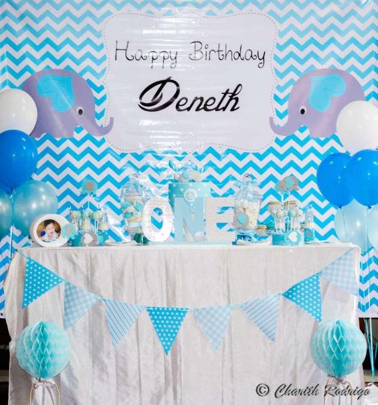 Blue Elephant Theme Birthday Party