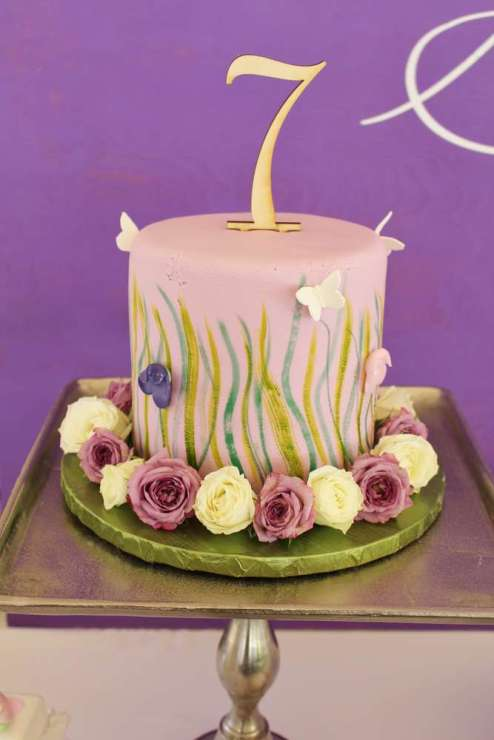Butterfly Theme Birthday Party Cake 2