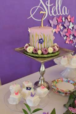 Butterfly Theme Birthday Party Cake 3