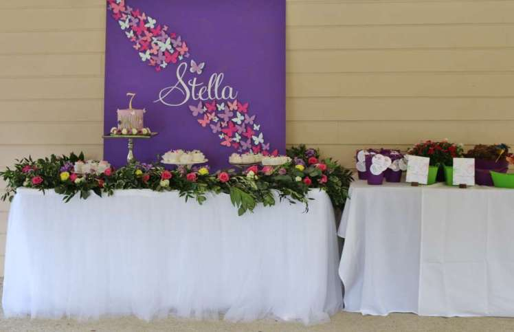 Butterfly Theme Birthday Party Venue