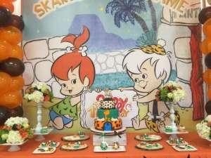 Flintstones Pebbles and Bamm Bamm Theme Party Decoration 2