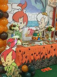 Flintstones Pebbles and Bamm Bamm Theme Party Decoration 4