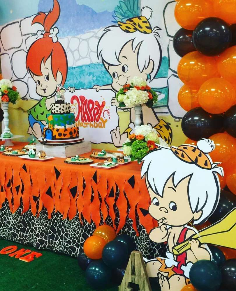 Flintstones Pebbles And Bamm Bamm Theme Party Decoration