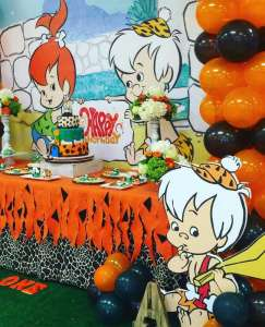 Flintstones Pebbles and Bamm Bamm Theme Party Decoration