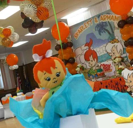 Flintstones Pebbles and Bamm Bamm Theme Party Return Gifts 2