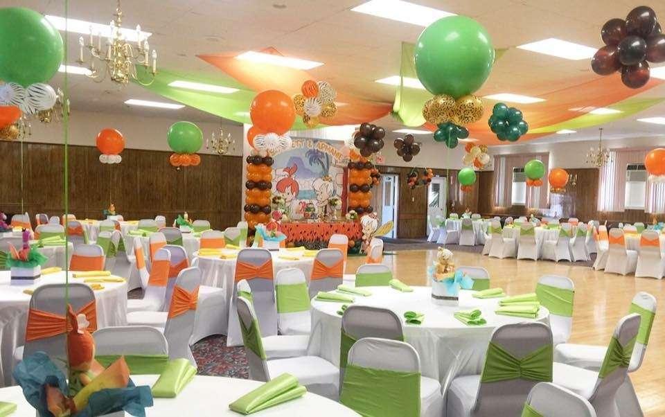 Flintstones Pebbles and Bamm Bamm Twins Theme Birthday Party