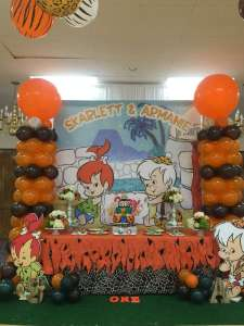 Flintstones Pebbles and Bamm Bamm Theme Party Venue