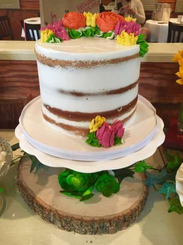 Flower Theme Party Cake