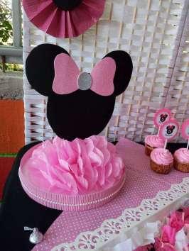 Pink Minnie Theme Birthday Party Decoration