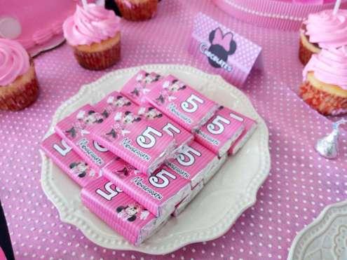 Pink Minnie Theme Birthday Party Food 3