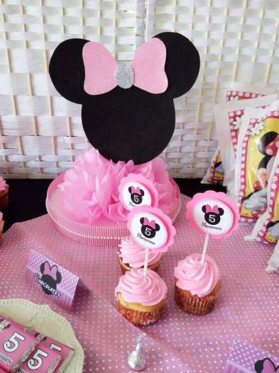 Pink Minnie Theme Birthday Party Food 4