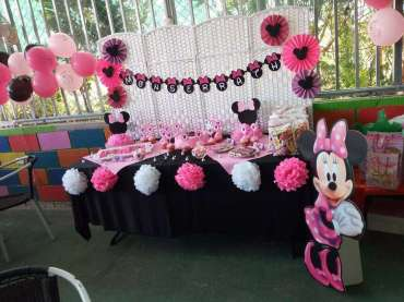 Pink Minnie Theme Birthday Party Venue 2