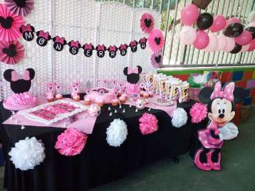 Pink Minnie Theme Birthday Party Venue