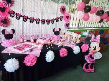 Pink Minnie Theme Birthday Party Venue
