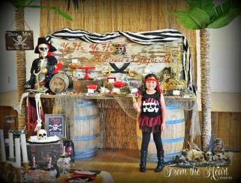 Pirate Theme Birthday Party Birthday Girl 3