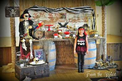 Pirate Theme Birthday Party Birthday Girl