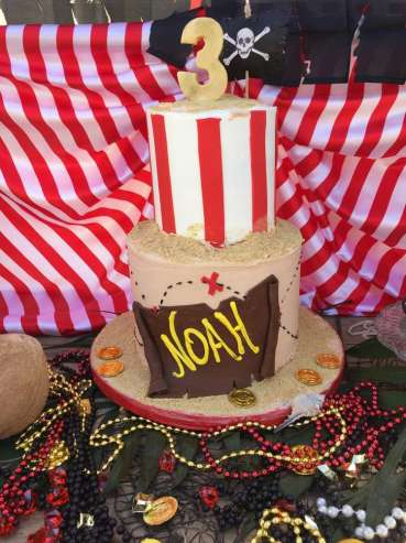 Pirate Theme Birthday Party Cake 2