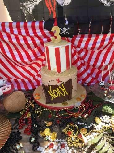 Pirate Theme Birthday Party Cake