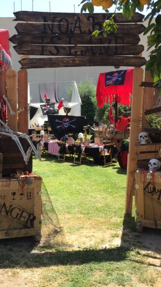 Pirate Theme Birthday Party Entrance 5