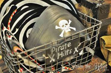 Pirate Theme Birthday Party Hats