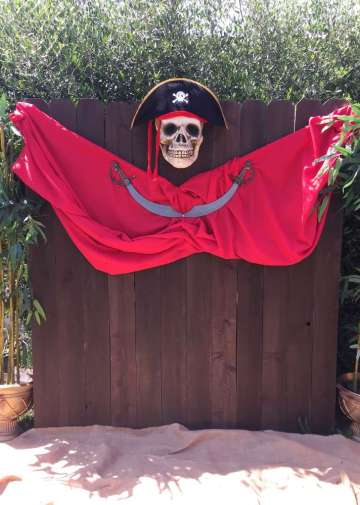Pirate Theme Birthday Party Photo Backdrop 2