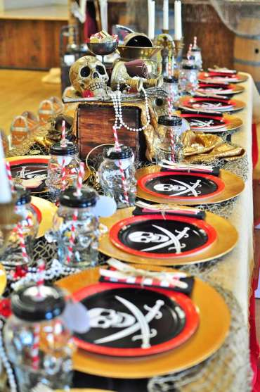 Pirate Theme Birthday Party Table Decoration 2