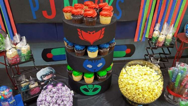 PJ Masks Theme Birthday Party Cake
