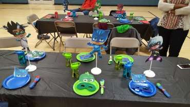 PJ Masks Theme Birthday Party Venue 3