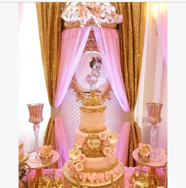 Princess Theme Baby Shower Cake