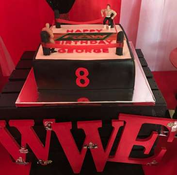 WWE Theme Birthday Party Cake