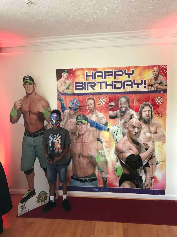 WWE Theme Birthday Party Photobackdrop