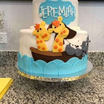 Animal Theme Baby Shower Cake
