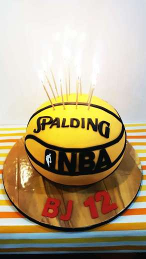 Basketball Theme Birthday Party Cake 1