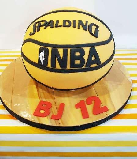 Basketball Theme Birthday Party Cake 2