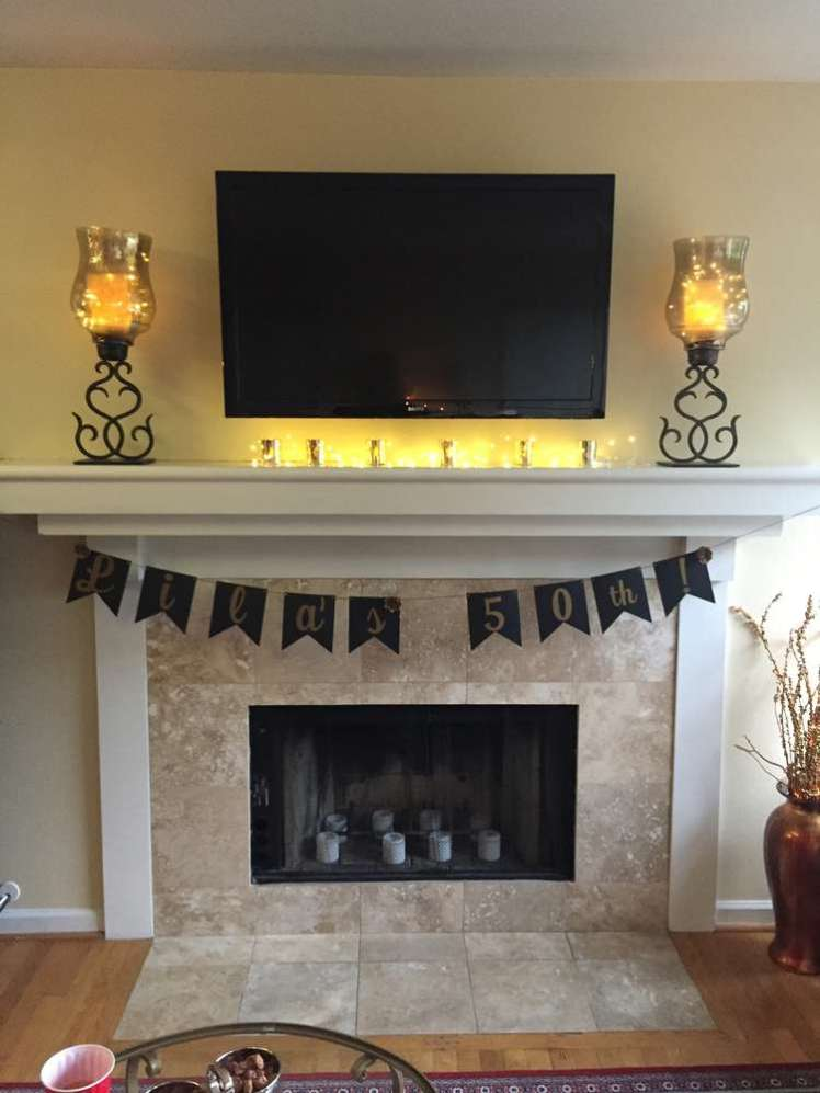 Black and Gold Theme Birthday Party Decoration 2