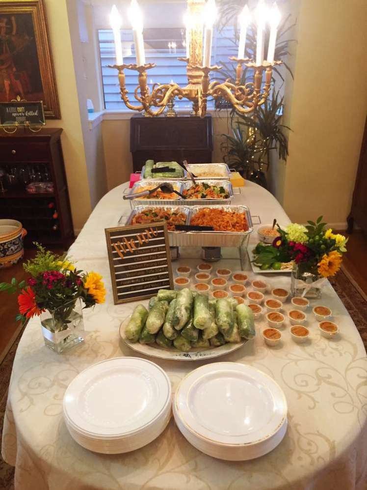 Black and Gold Theme Birthday Party Food 8